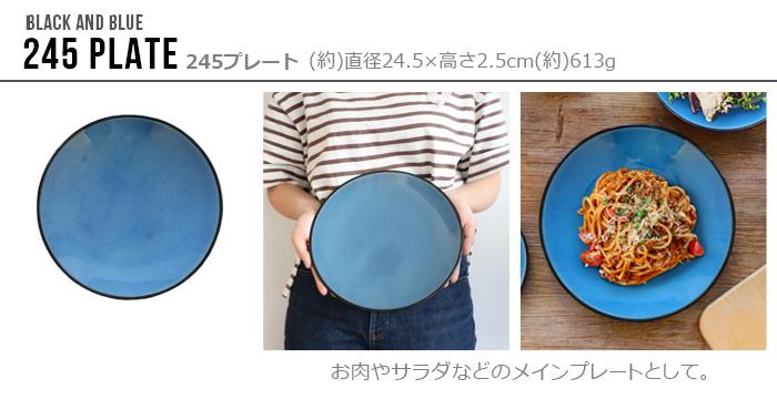 TRIBECA BLACK AND BLUE 245 PLATE トライベッカ ブラック アンド ブルー 24.5cm プレート