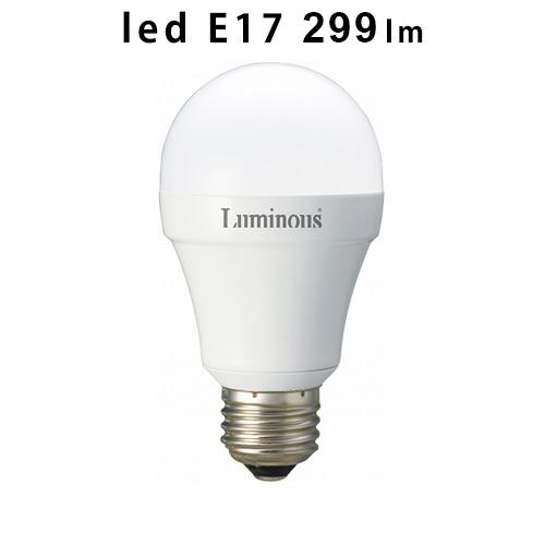 ドウシシャ ≪ E17/299lm ≫ 25W相当 [電球色EG-A25GML] LEDクリプトン電球 Luminous