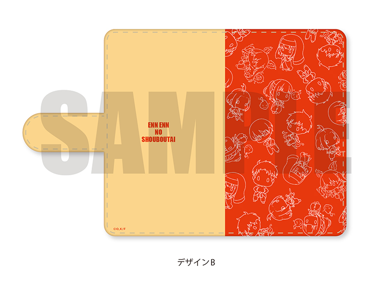 「炎炎ノ消防隊」ぽてぽっくる 手帳型マルチタイプスマホケース