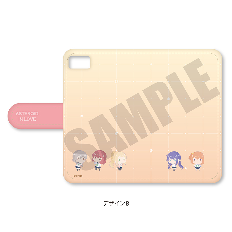 「恋する小惑星」ぽてぽっくる 手帳型iPhoneケース