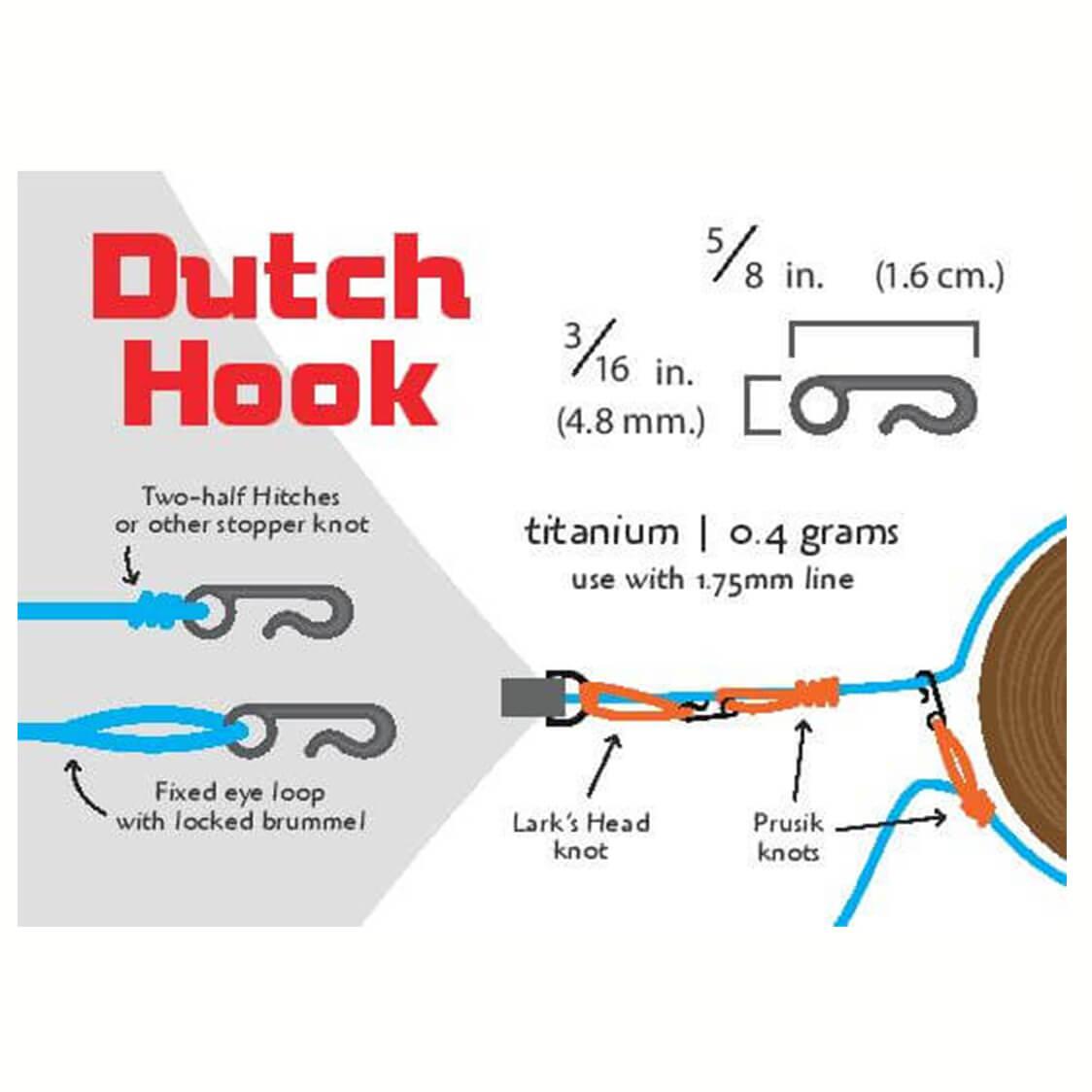 【送料無料】 ダッチウェア ギア チタン製 ダッチ フック (2個セット)  - DUTCHWARE GEAR TITANIUM DUTCH HOOKS (PAIR)