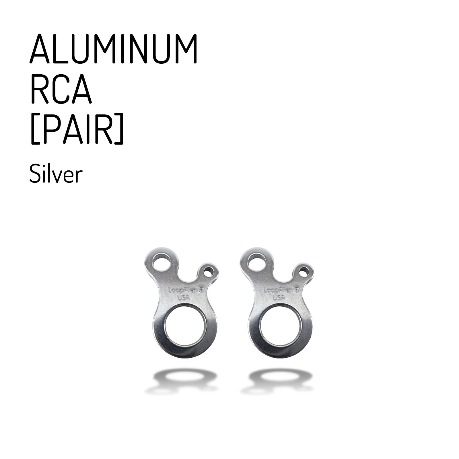 【送料無料】 ループエイリアン RCA  [アルミニウム] シルバー (2個セット) / LoopAlien® ALUMINUM RCA Silver  (PAIR)