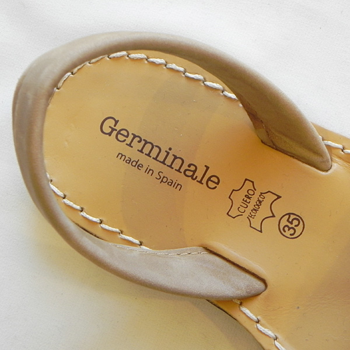 Germinale ジェルミナーレ ヌバックレザー ヒールストラップサンダル 2021 SPRING/SUMMER NGR1801N