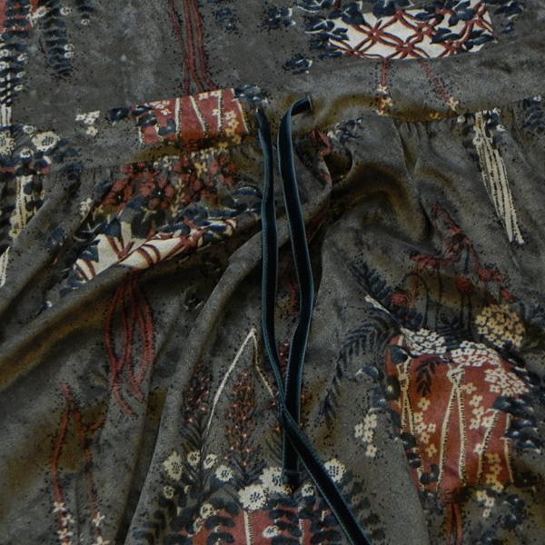 marble SUD マーブルシュッド ベロアプランター ウエストgom OP 2020F/W 03AF043039