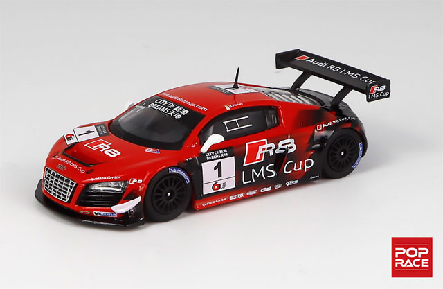 1/64 【台座付限定版】AUDI R8 LMS ULTRA Macau GT Cup 2013 Edoardo Mortara #1 アウディ R8