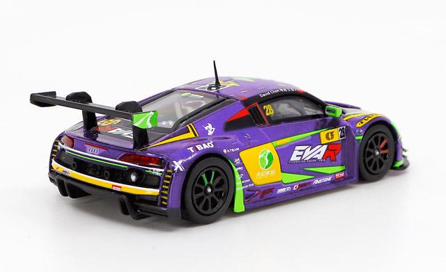 1/64 Audi R8 LMS エヴァ RT 初号機 TSRT R8 Macau GT Cup 2020 David Chen 綾波レイ RQ フィギュア セット 《予約9月》