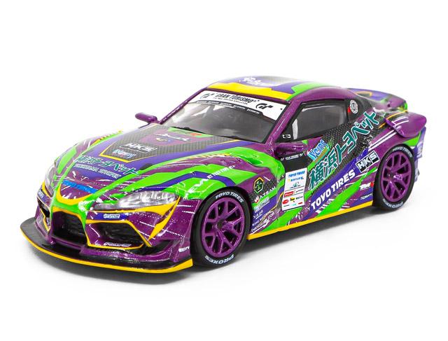 1/64 GR Supra D1 Grand Prix Series 2020 with Race Queen Figure エヴァRT初号機 GRスープラ 綾波レイ RQ フィギュア セット 《予約12月》