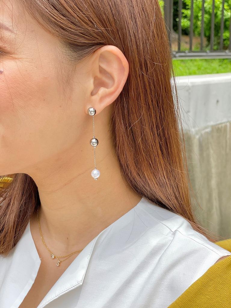 metal × pearl pierce(silver)