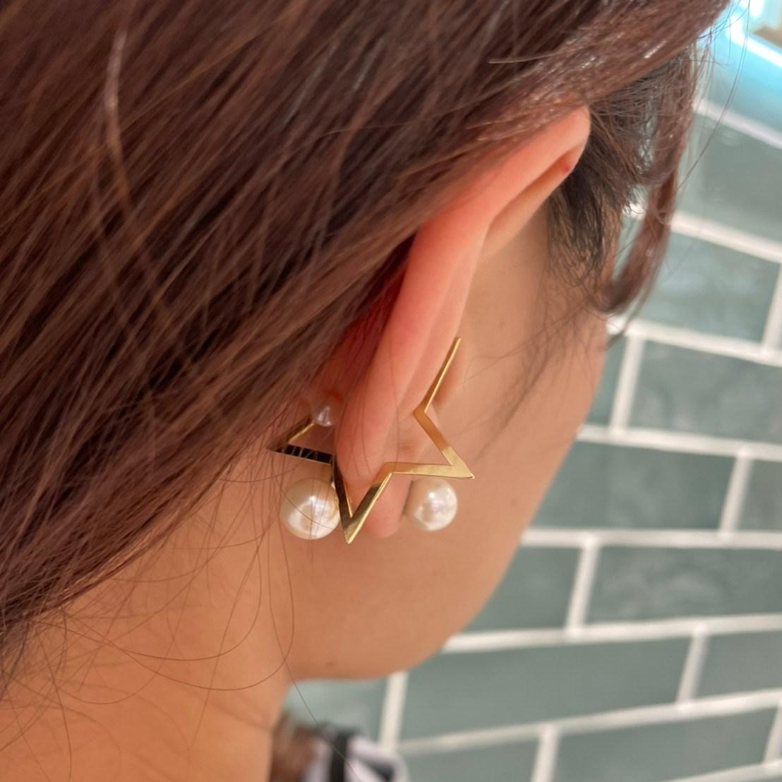 star ear cuff (gold)