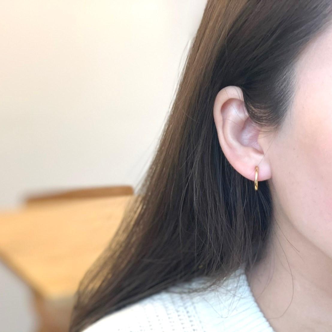 2way淡水pearl hoop earring