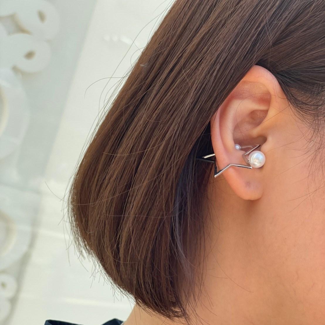 star ear cuff (silver)
