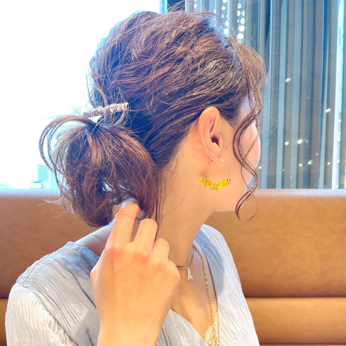 mimosa color hoop pierce