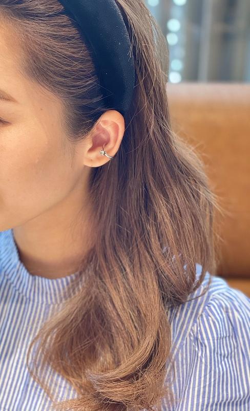swarovski ear cuff (silver)