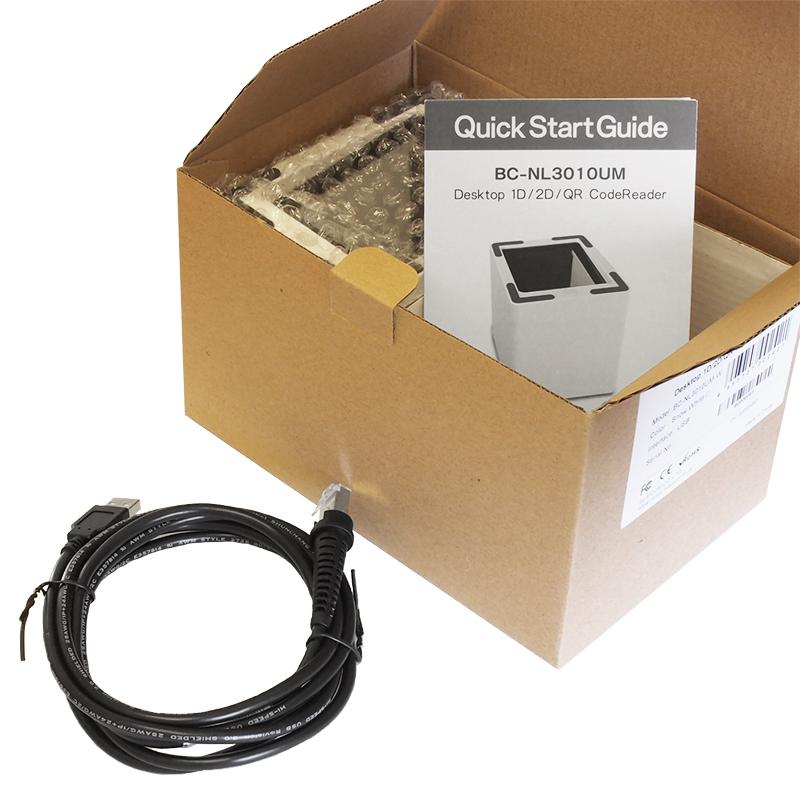 卓上バーコードリーダー BC-NL3010UM-W (USB・白) 1年保証 2次元コード・QRコード対応!