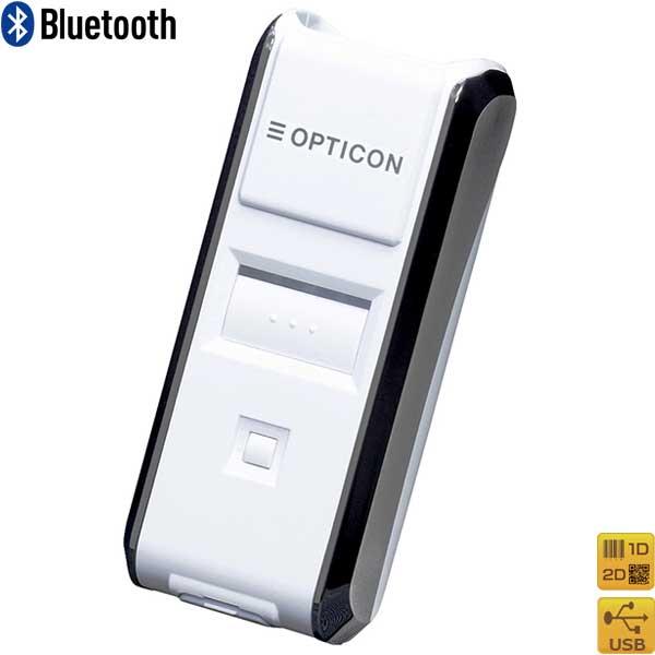Bluetooth 2次元コードスキャナ OPN-3102i-WHT OCR・DPM標準搭載 GS1・iOS対応 白 OPTICON