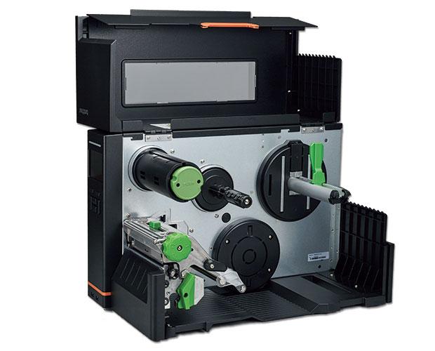 ブラザー 熱転写・感熱兼用 インダストリアルラベルプリンター TJ-4520TN-CU レギュラー・カッターユニット搭載モデル (4インチ幅/USB・シリアル・有線LAN/300dpi)
