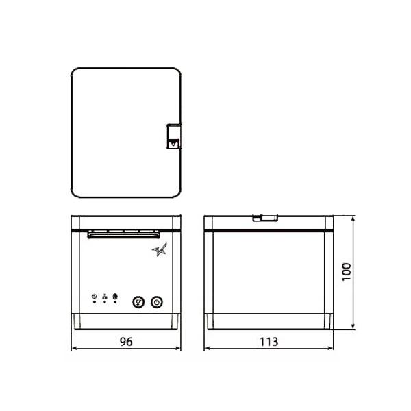 スター精密 mC-Print2 多機能 レシートプリンター MCP21LB BK JP (USB・LAN・Bluetooth/58mm対応/ブラック)