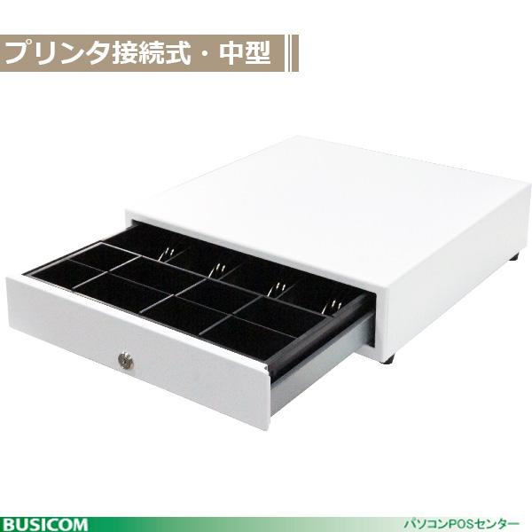 BC-423M-W(8C) 8コインモジュラーキャッシュドロア[中型]4B/8C 白 日本製 ビジコム