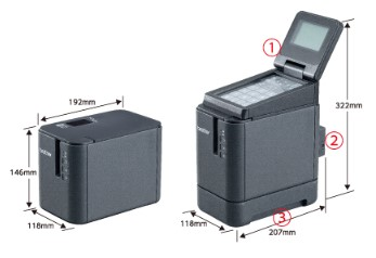 【ブラザー正規代理店】PT-P950NW操作パネル&液晶ディスプレイユニット PA-TDU-003