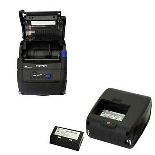 80mm幅 Bluetoothモバイル感熱プリンタ CMP-30�BT-JL 磁気カードリーダなし(USB+RS232C標準装備・ラベル対応) シチズン