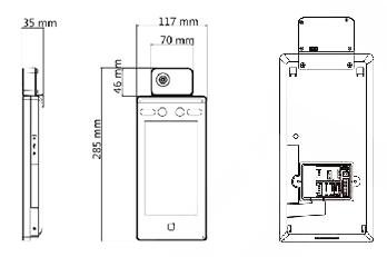 検温機能(体温測定)付きAI顔認証タブレット型サーモグラフィカメラITH-S01