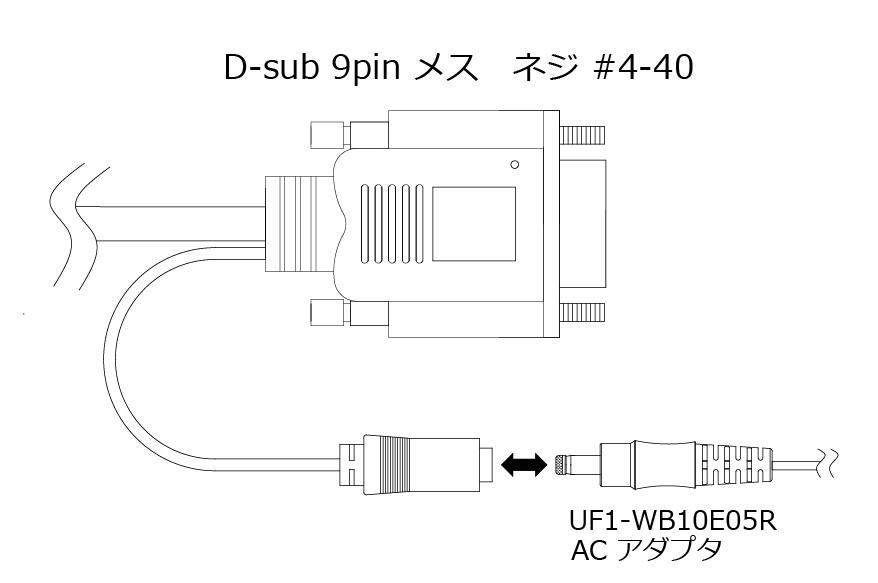 オプトエレクトロニクス バーコードスキャナL-46X/L-46R用RS-232C交換ケーブル(2m) UF1-HSCG20S5002-A-PAC