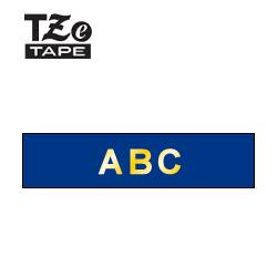 【ブラザー正規代理店】TZe-RN34 ピータッチ用 テープカートリッジ リボンテープ (幅12mm・ネイビーブルー地・金文字)
