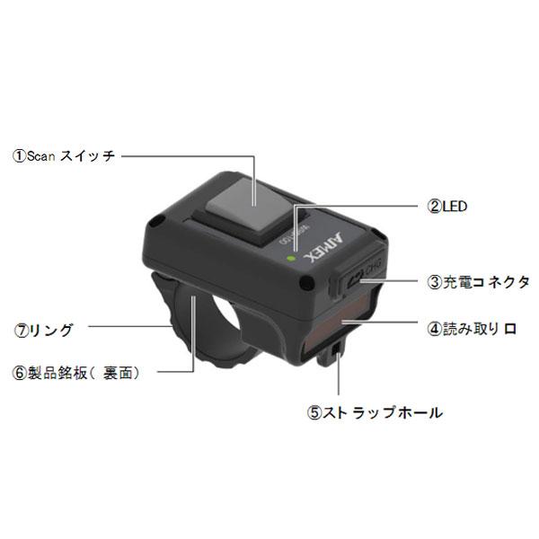 アイメックス WRS-200 超軽量小型 ウェアラブルリング二次元スキャナ Bluetooth 4.2(BLE)