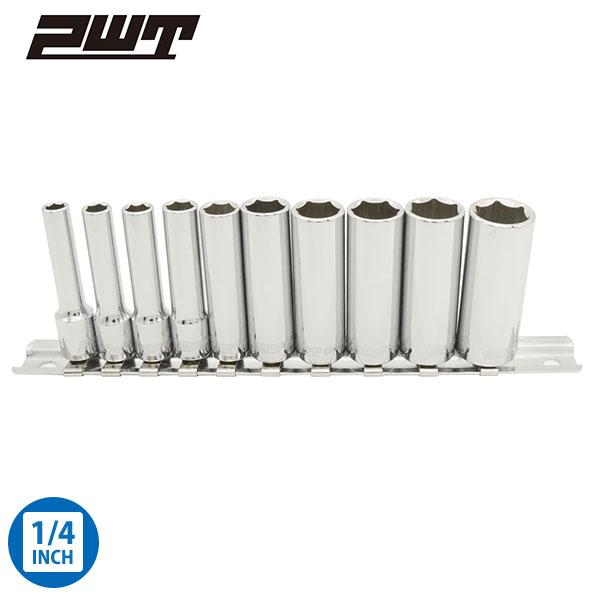 PWT 6角 ディープソケットセット 差込角 1/4インチ 6.35mm IDS14SET