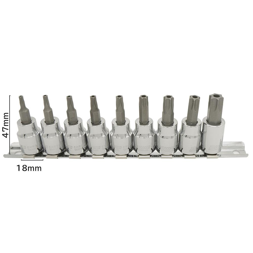 PWT 3/8インチ(9.5mm) いじり止め対応 トルクスビットソケットセット IBS38TTSET