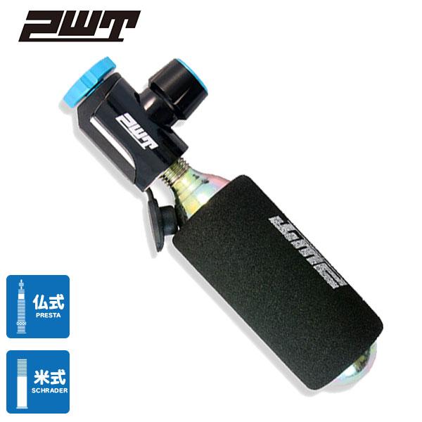 PWT 自転車 空気入れ CO2 インフレーター ボンベセット 仏式/米式対応 インフレータ CI05