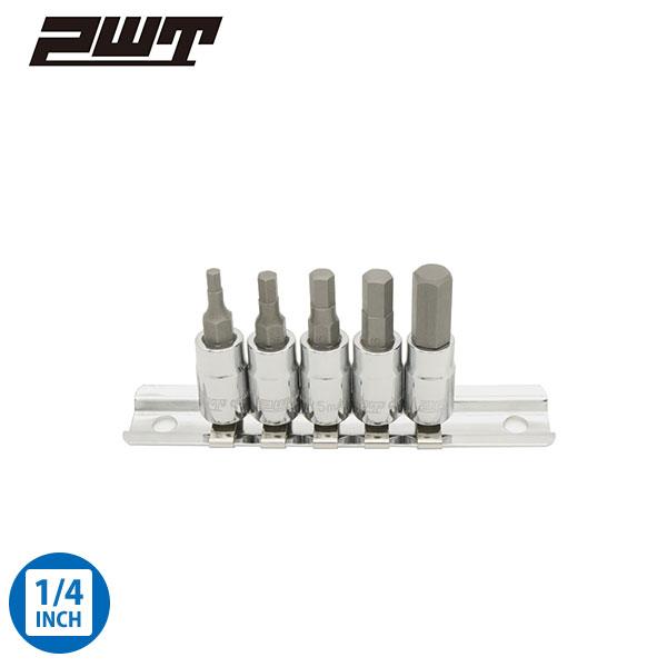 PWT ヘックスビットソケットセット 差込角 1/4インチ 6.35mm IBS14HSET