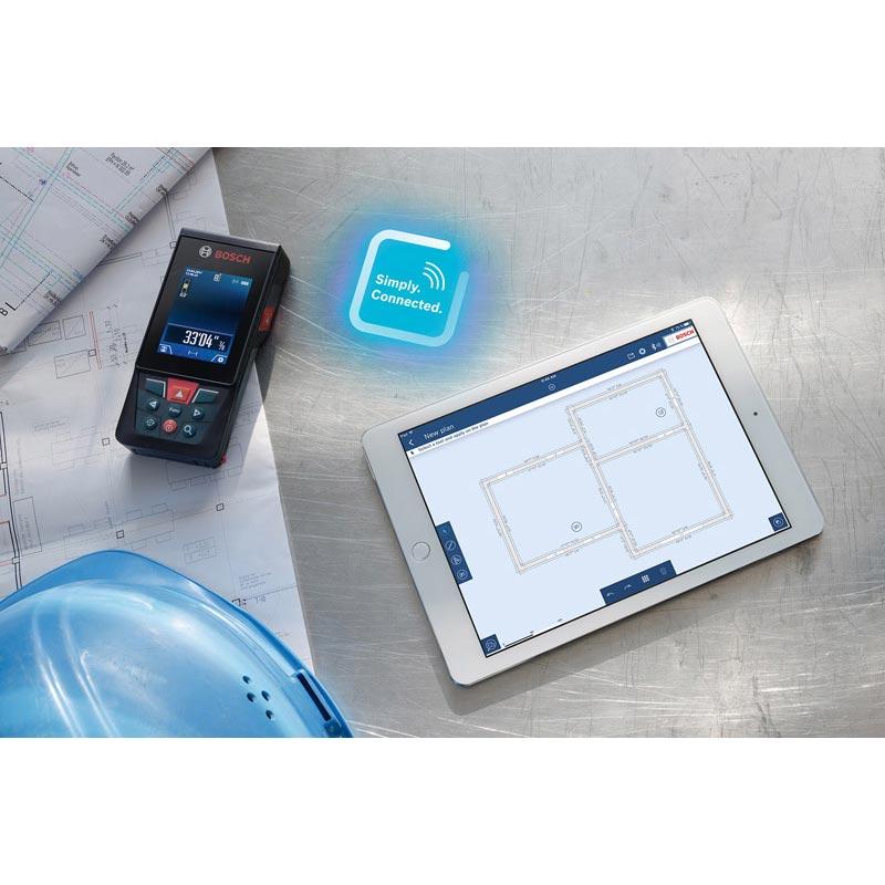 GLM120C スマキョリ : データ転送レーザー距離計(カメラ機能付き) (Bluetooth 転送)(120m測定・キャリングバック付) : ボッシュ電動工具