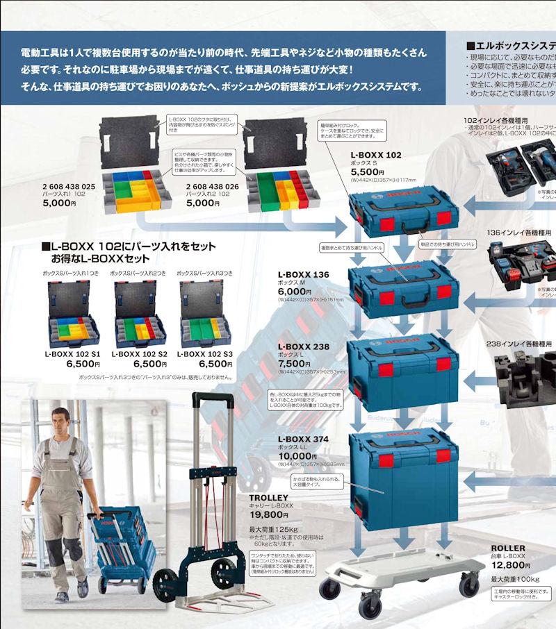 L-BOXX102S2 : ボックスS パーツ入れ2つき 汎用パーツ入れ  W442×D357×H117mm : ボッシュ電動工具