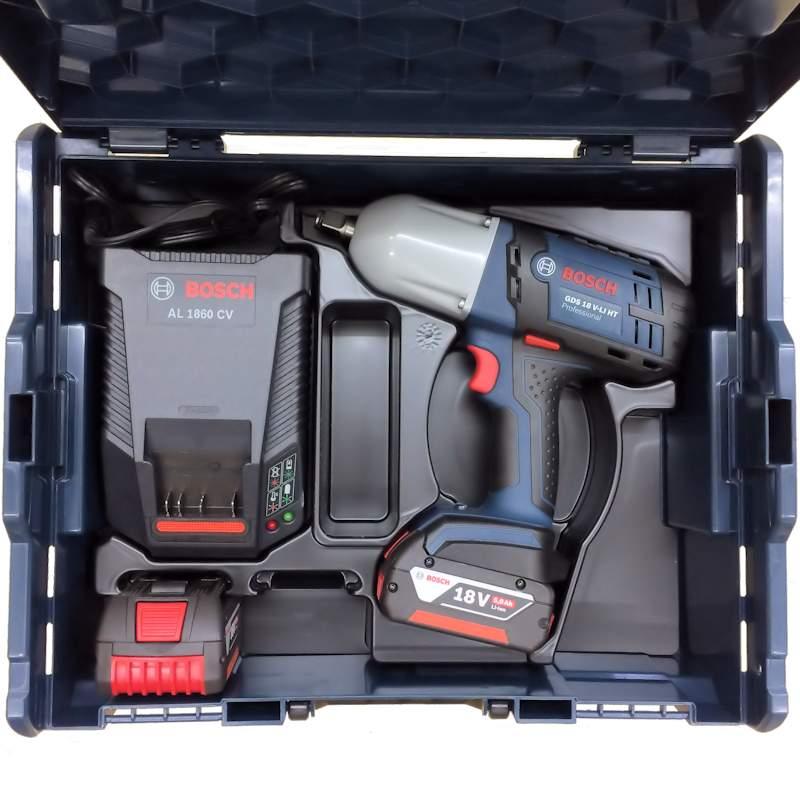 GDS18V-LIHTS : バッテリーインパクトレンチ【最大トルク650Nm】(5.0Ahバッテリー2個・充電器・キャリングケースL-BOXX136付) : ボッシュ電動工具