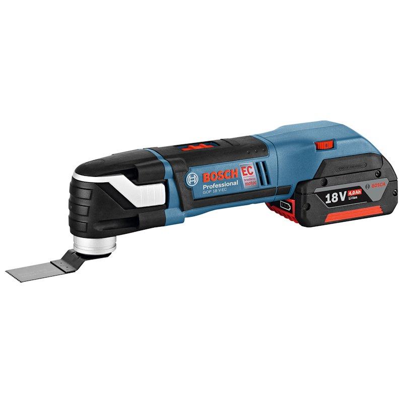 バッテリーマルチツール(スターロックプラス):GMF 18V-28(6.0Ahバッテリー1個、充電器、ケースL-BOXX136付):ボッシュ電動工具