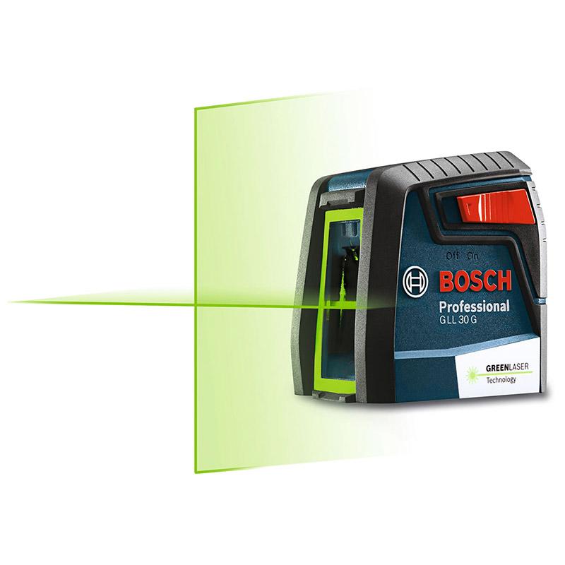 GLL30G : クロスラインレーザー(グリーンレーザー採用) : ボッシュ電動工具