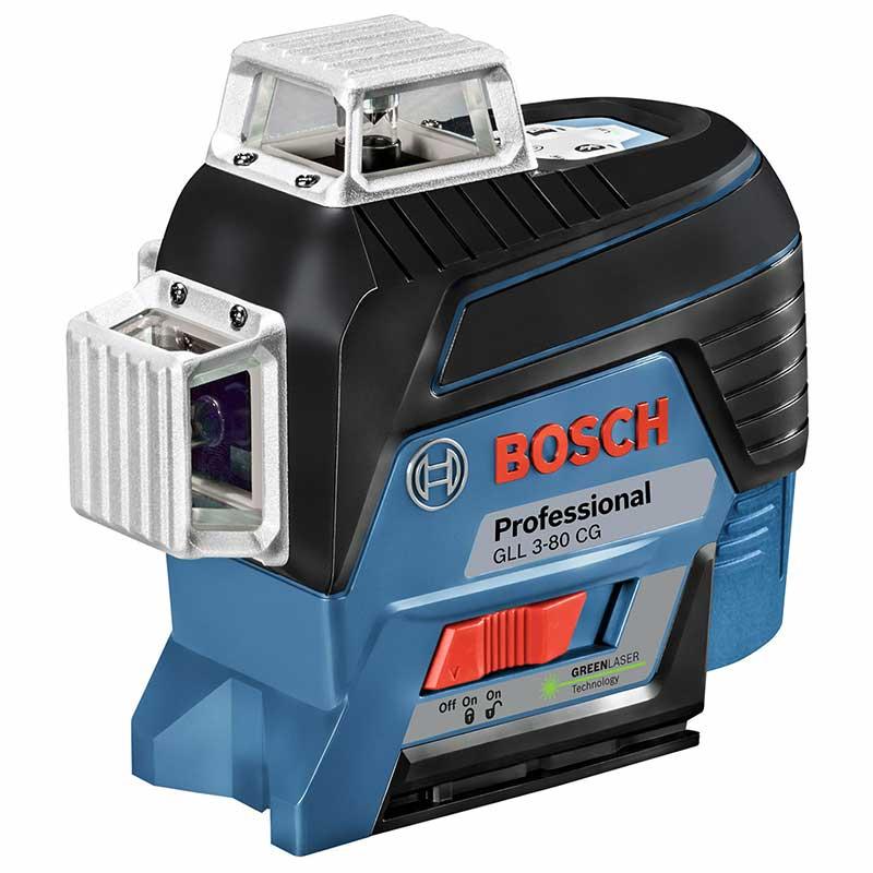 BOSCH(ボッシュ)レーザー墨出し器 : GLL3-80CG [水平4ライン、垂直4ライン、鉛直、地墨クロスライン] : ボッシュ電動工具