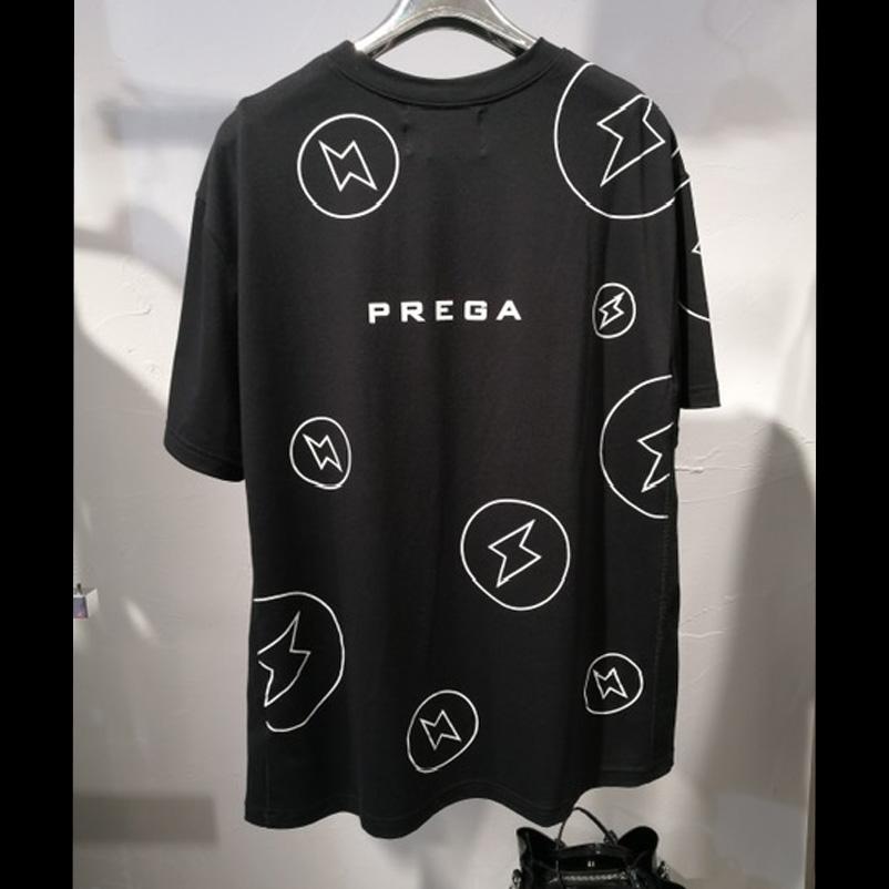 【PREGA】オリジナル稲妻プリントオーバーサイズTシャツ