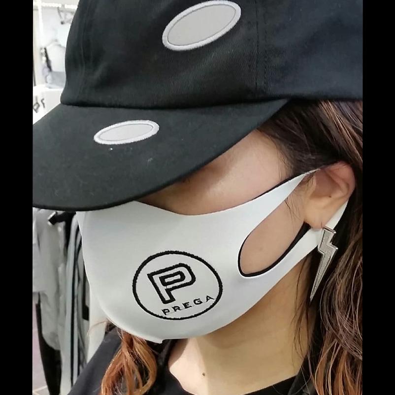 【PREGA】オリジナルマスクPマーク<ホワイト>