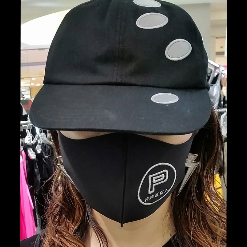 【PREGA】オリジナルマスクPマーク<ブラック>