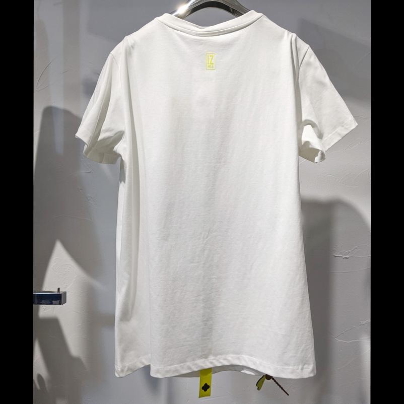 【PREGA】IZMEE ファンキーアートプリントTシャツ