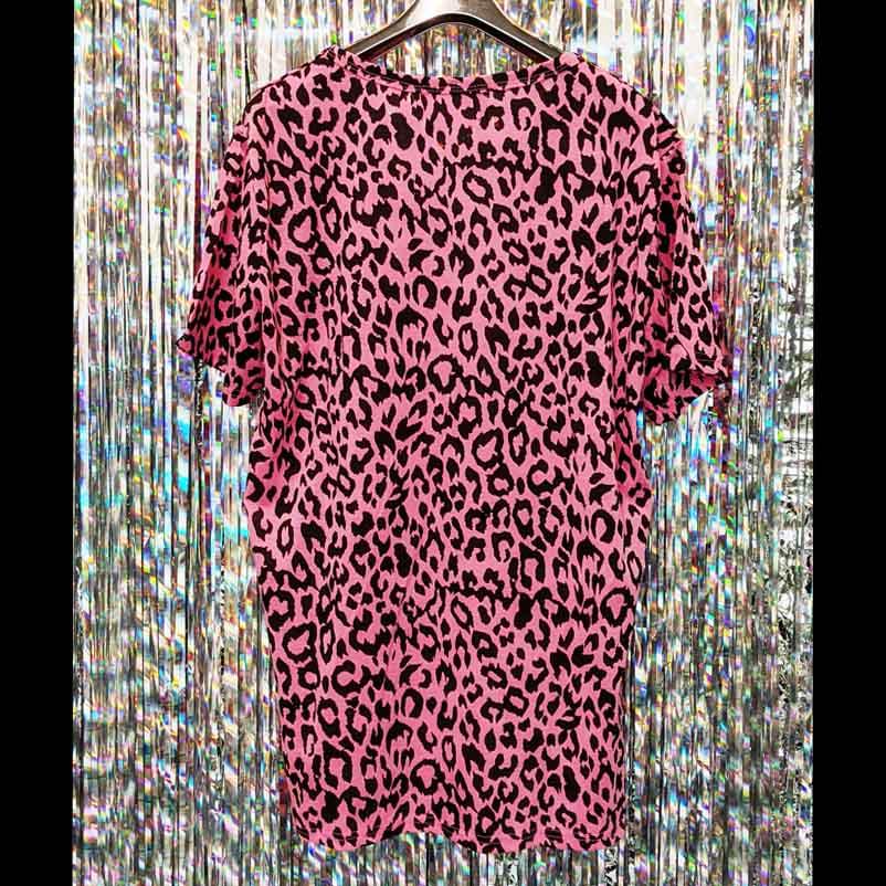 【PREGA】アニマルプリントTシャツ<ピンク>
