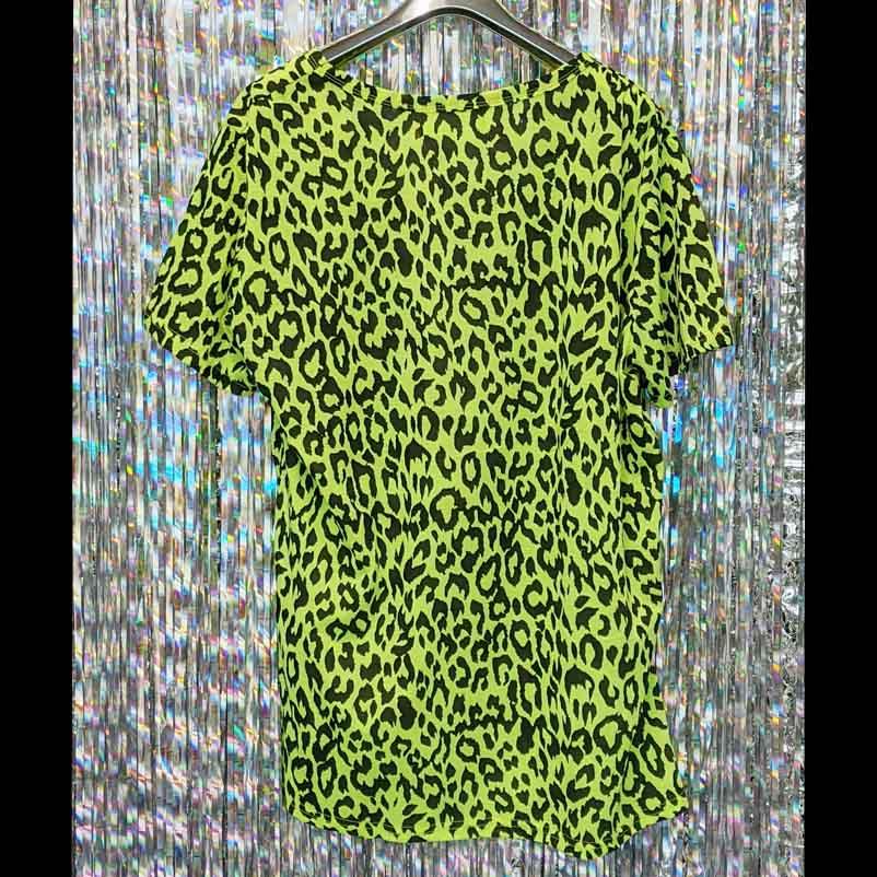 【PREGA】アニマルプリントTシャツ<グリーン><br><s>定価¥4,400</s>
