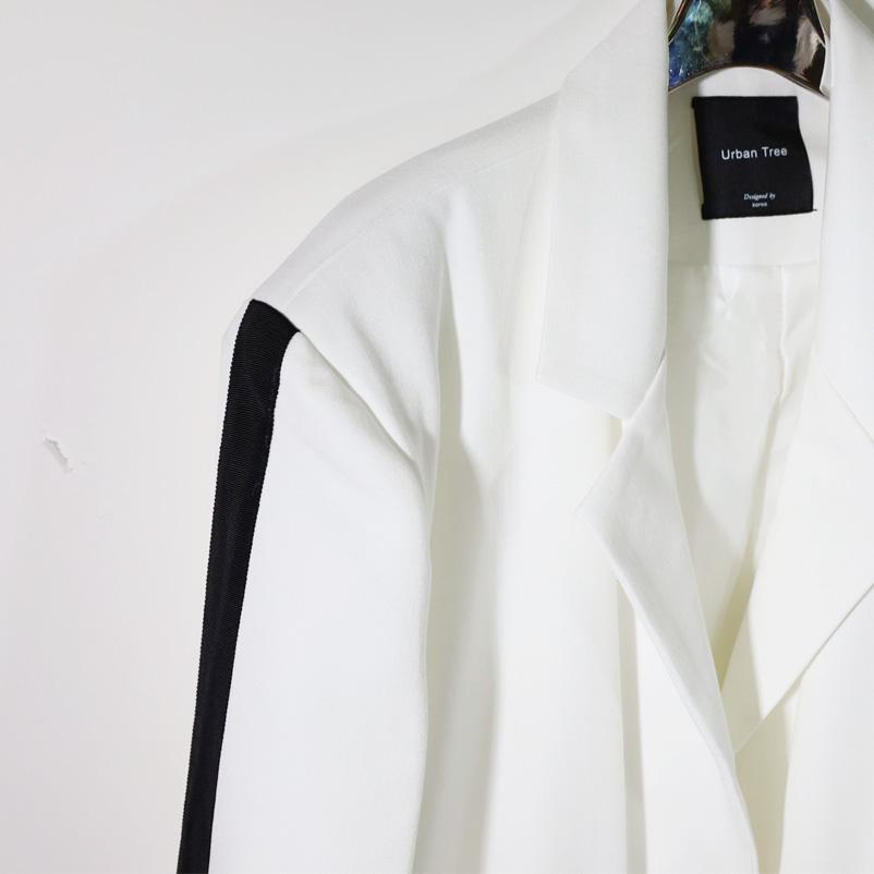 スリーブライン テーラードジャケット<ホワイト>