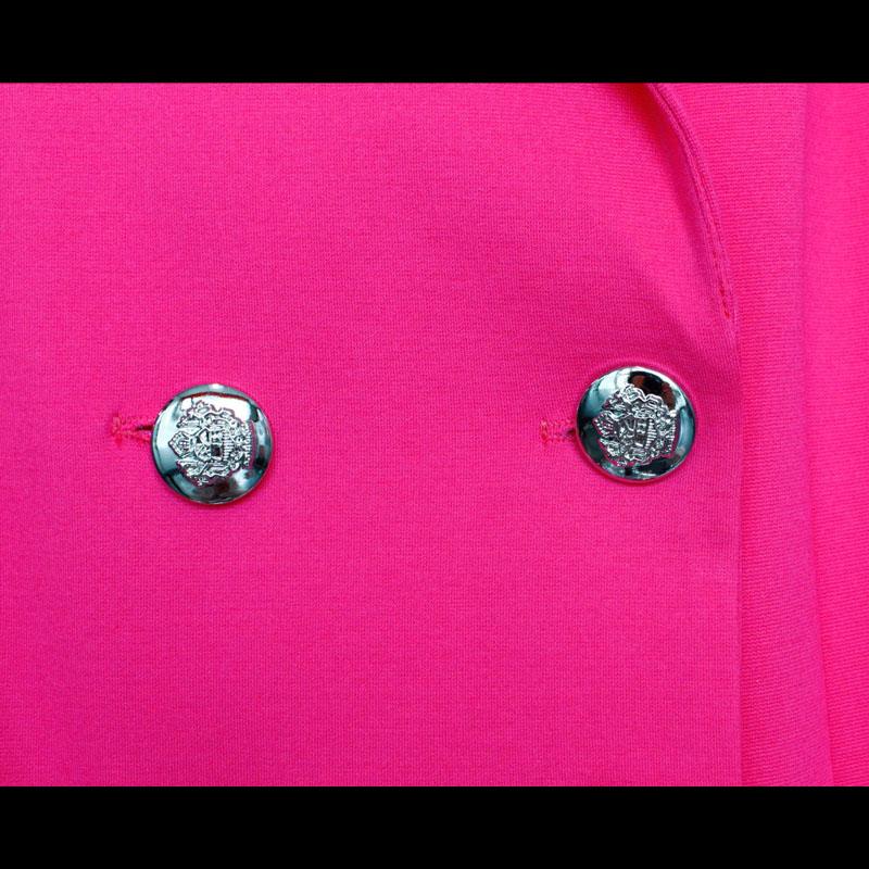 SOLD OUT<br>【PREGA】ダブルテーラードロングジャケット<ピンク>