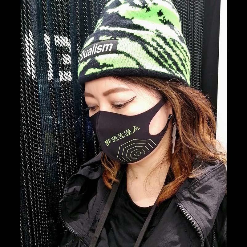【PREGA】オリジナルマスク スパイダーウェブ<グリーン>