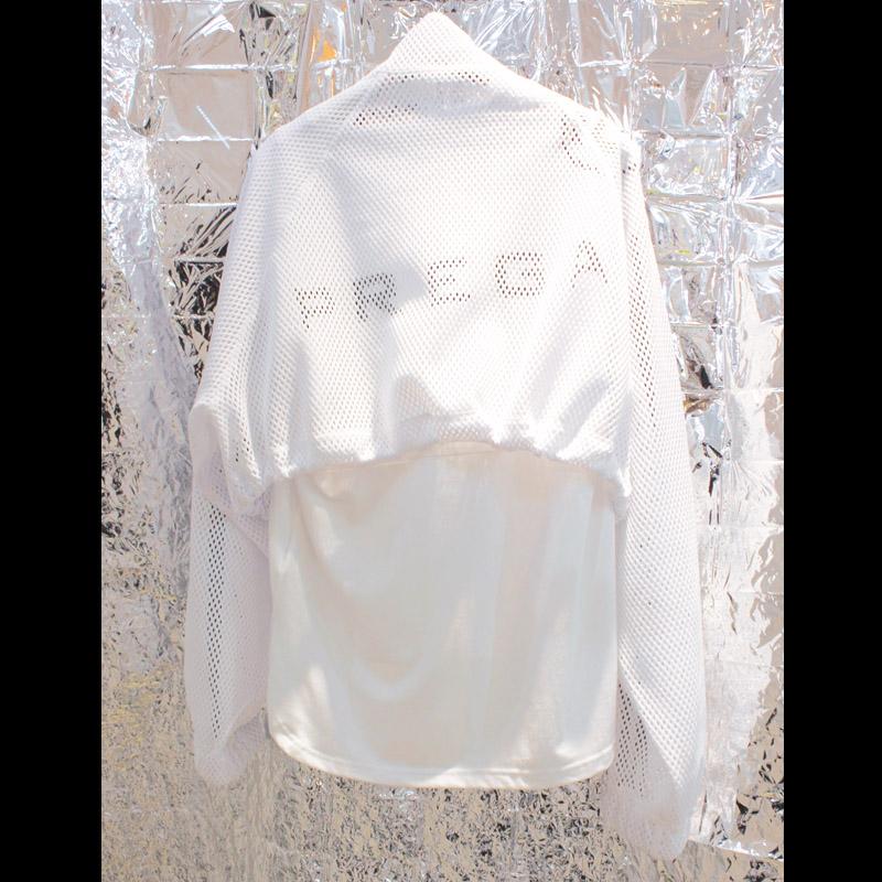 <br>お問い合わせ商品<br>【PREGA】オリジナルメッシュショート丈ブルゾン<ホワイト>