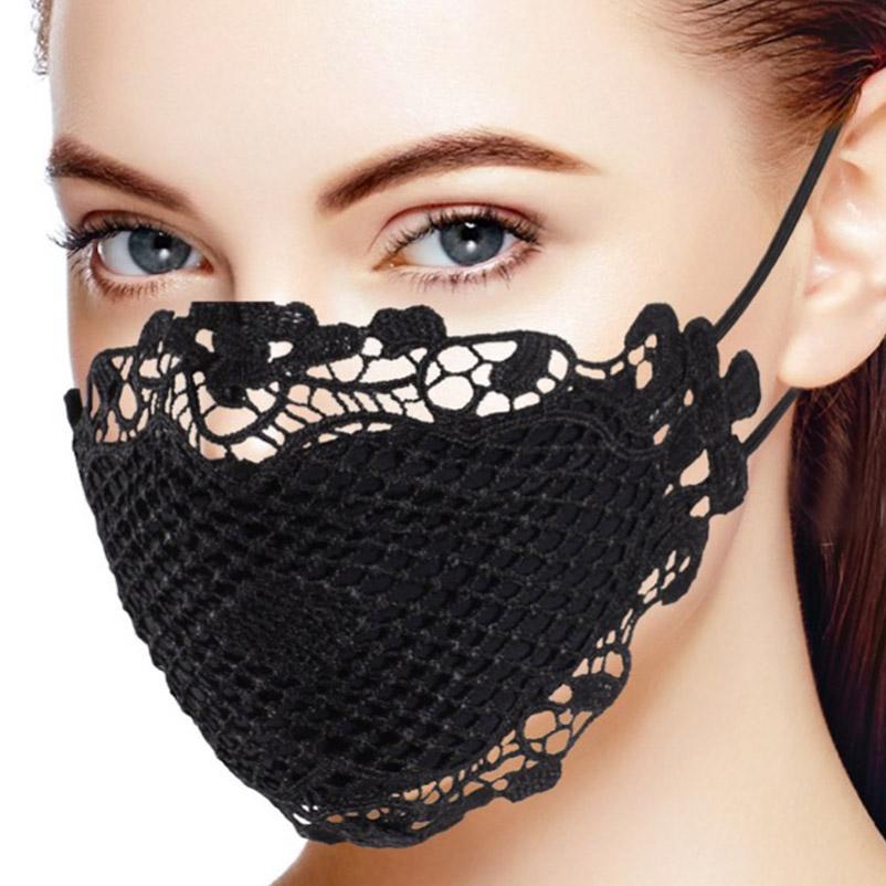 【PREGA】レースマスク<ブラック>