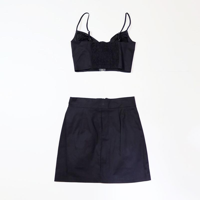 【PREGA】クロップドトップス&スカート セットアップ